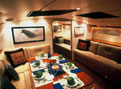 Beowulf - 80ft Skip Dashew Design - Dining area